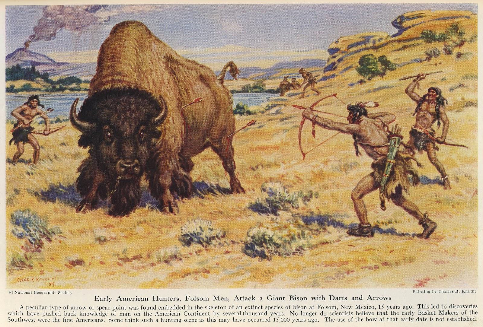 картинки первобытный бизон