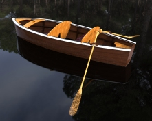 Wooden Boat.401